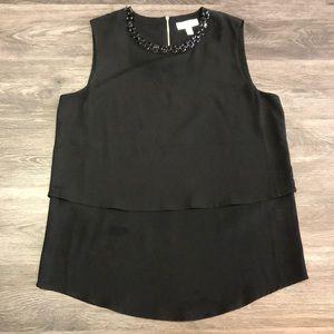 🌸$15 Calvin Klein Black Chiffon Sleeveless Blouse